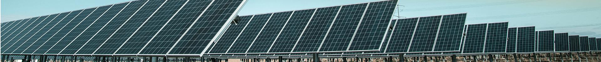 Header image - solar panels