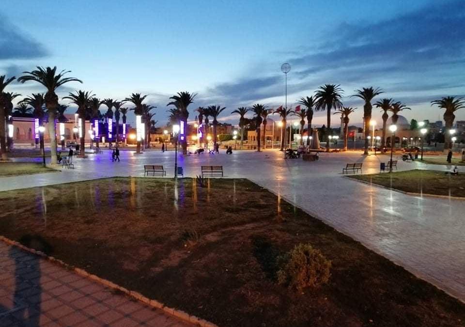 مشروع إنارة للمبنى الرئيسي لبلدية المنستير، والسوق المركزي، والساحات العامة والشوارع الرئيسية في المنستير – تونس